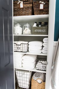 Vacation Home Linen Closet