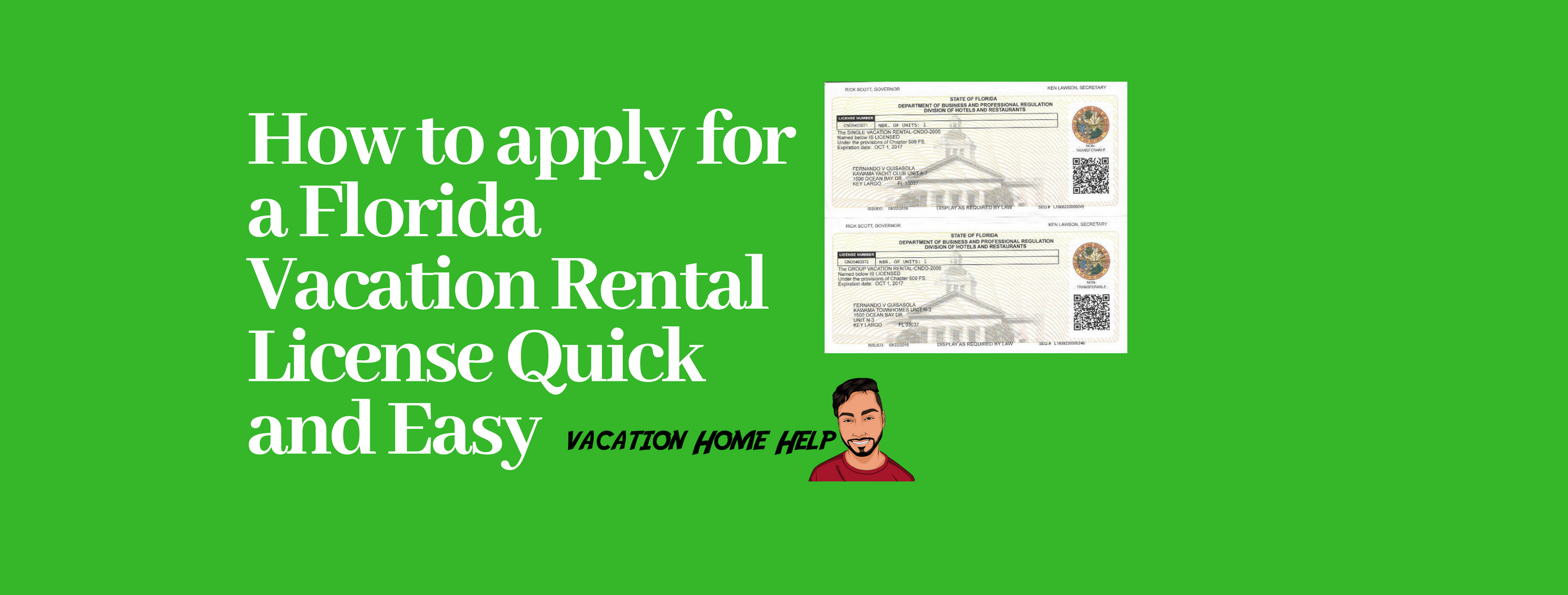 Florida Vacation Rental License