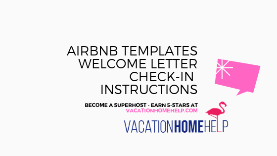 AirBnB-Template Vacation Rental Welcome Letter Template on startup cost accounting, near meguidebook,