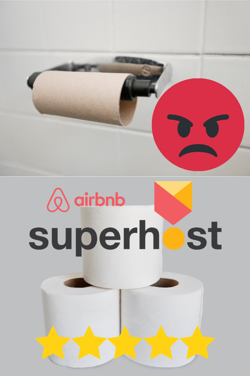 Toilet paper airbnb